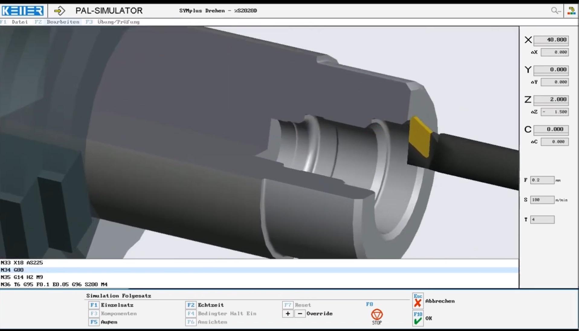 Simulation zur IHK-Abschlussprüfung Teil 2 für Zerspanungsmechaniker/innen Sommer 2020 Drehen