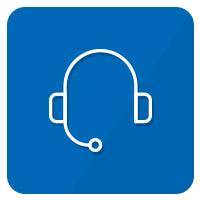 icon hotline blau weiß